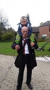 Vater Jörg Krampe mit Sohn